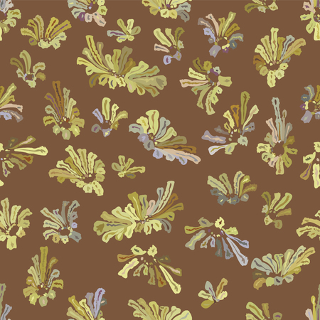 abstract wallpaper: Colorful plants  Abstract wallpaper  Seamless pattern
