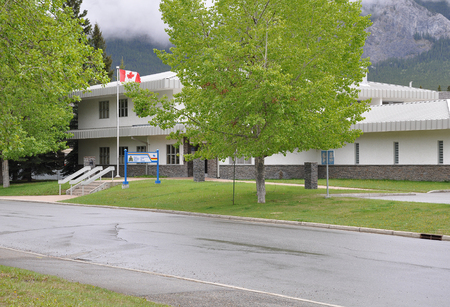 Royal Canadian Mounted Police office at morning time on June 11, 2011 in Banff, Canada