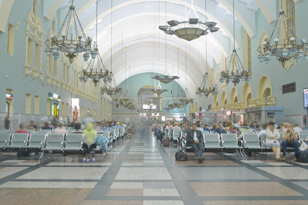 Interior of Moscow railway station  Kazanskyj vokzal  on August 16, 2014 in Moscow, Russia   Editorial