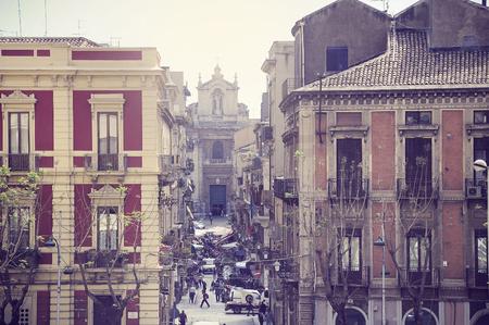 Mini market on the morning street of Catania. Sicily. photo