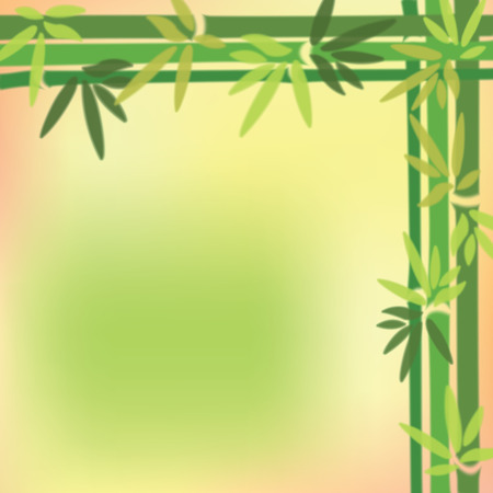 fengshui: Blurred bamboo trees and leaves at on colorful background.