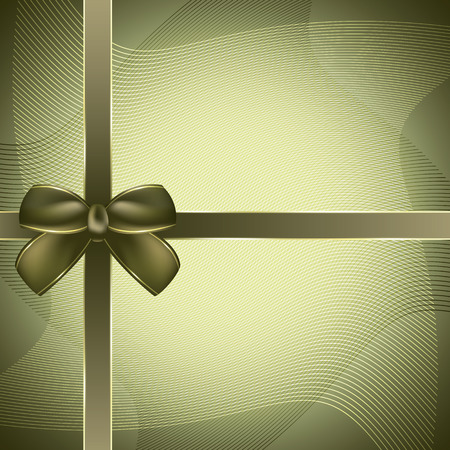 present box: Cover of the present box green background. Vector illustration. Illustration
