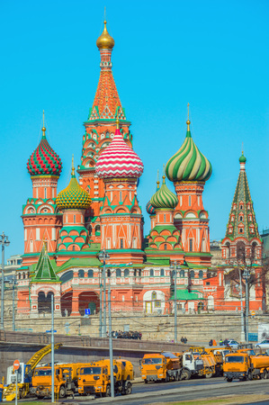 st  basil: St. Basil Cathedral on Red Square in Moscow, Russia.