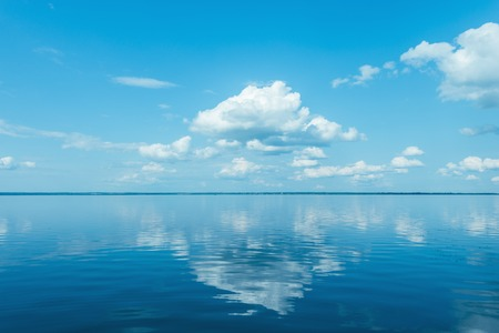 windless: View of the lake at windless weather time.