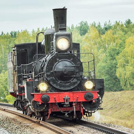 peron: Old retro russian steam locomotive of Ov series. Locomotives of Ov series were made from 1890 to 1915 years.