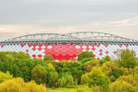 spartak: Moscow, Russia - September 20, 2015: View of Otkrytie Arena. Home stadium of Spartak football team.