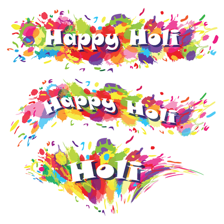 devotional: Abstract for Happy Holi colourful background. Vector illustration.