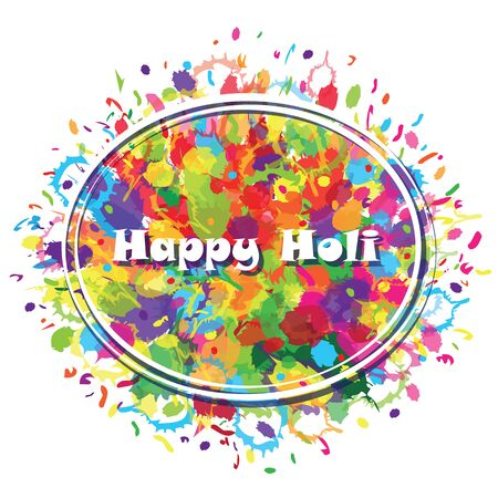 happy holi: Abstract for Happy Holi colourful background. Vector illustration.