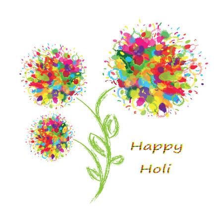 happy holi: Happy Holi colourful postcard background