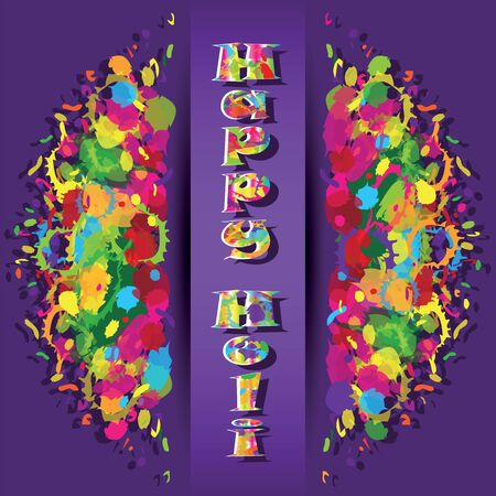 ethnicity happy: Abstract for Happy Holi colorful background