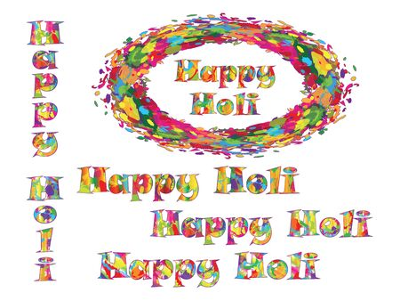 happy holi: Abstract for Happy Holi colorful background. Illustration