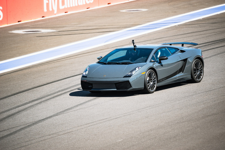 lamborghini: Sochi, Russia - May 11, 2015: Training races of Lamborghini on the autodrom.