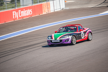 superleggera: Sochi, Russia - May 11, 2015: Training races of the high speed car on the autodrom. Editorial