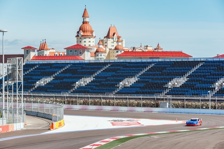 superleggera: Sochi, Russia - May 11, 2015: Training free races of the high speed car on the autodrom. Editorial