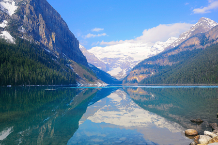 louise: Lake Louise in Banff National park. Canada. Stock Photo