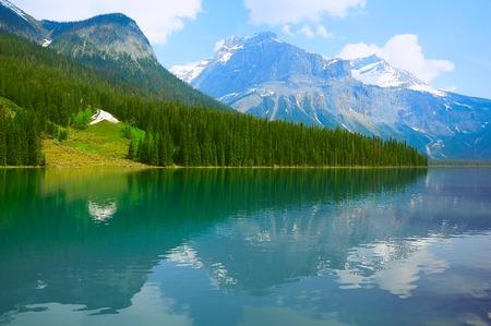 canadian rockies: Emerald Lake. Yoho National Park. Canadian rockies. Stock Photo