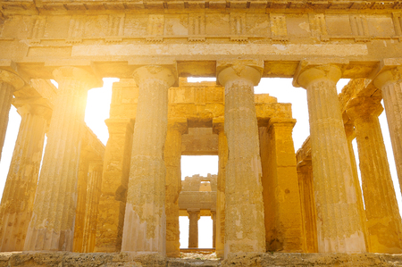 valley of the temples: Ancient Greek temple in the Valley of the Temples. Agrigento. Sicily. Italy.