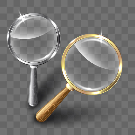 pair of glasses: Pair of magnifying glasses on abstract background. Vector illustration. Illustration