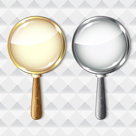 pair of glasses: Pair of magnifying glasses on abstract background. Illustration