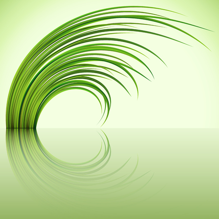 greensward: Fragment of the green grass on green background. Illustration