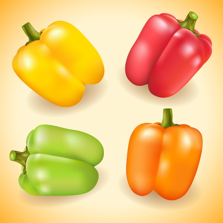hustle: Collection of colorful sweet pepper.