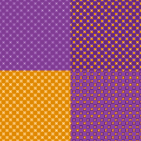 Four colorful seamless abstract backgrounds. Vector illustration.