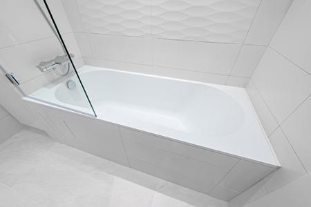 luxury hotel room: Luxury bathtub in the modern hotel room.