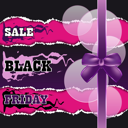Black Friday sale abstract background. Vector illustration.