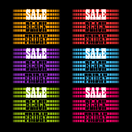 reductions: Black Friday sale colorful backgrounds. Vector illustration.