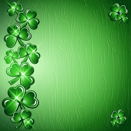 St Patricks Day border background. Vector illustration.