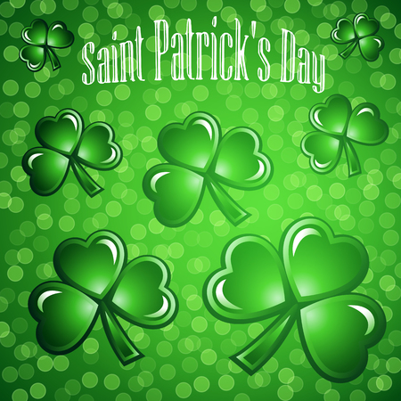 St Patricks Day abstract background. Vector illustration. Illustration