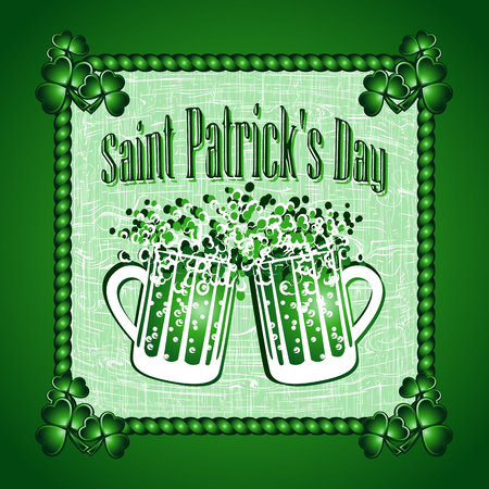 greeting card background: St Patricks Day greeting card background. Vector illustration. Illustration