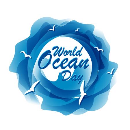 World ocean day. 8th June. Vector illustration. Illustration