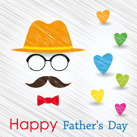 Happy Fathers Day greeting card. Vector illustration. Illustration