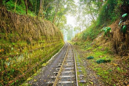 Steam narrow-gauge railway from Yuejin to Bagou. Jiayang Mining Region. Sichuan province. China.
