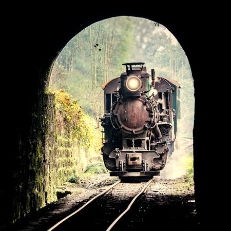 Steam narrow-gauge train