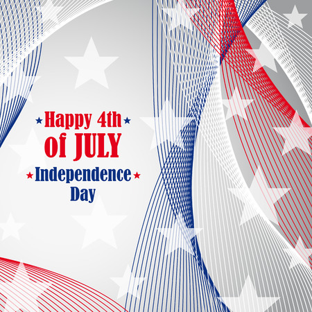 Independence day 4 th of july. Illustration