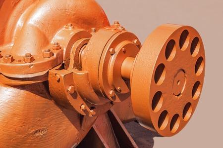 Heavy metal part of the big pump.