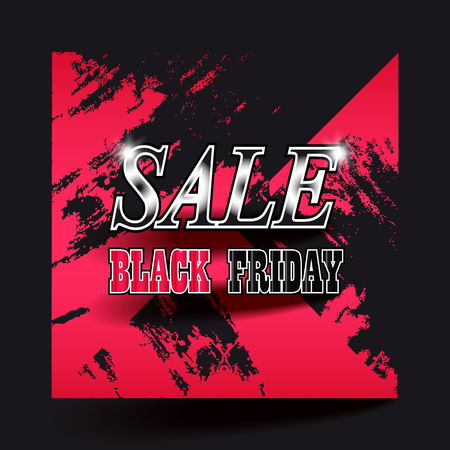 Black Friday sale colorful background. Vector illustration