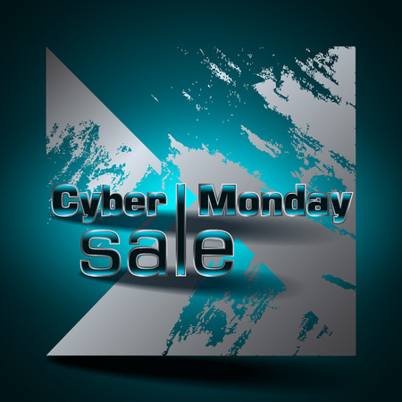 Cyber Monday sale colorful background. Vector illustration.