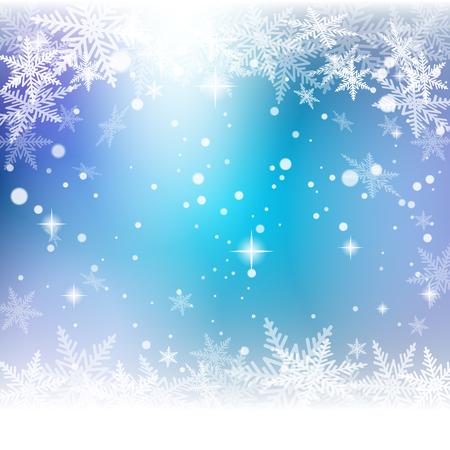 Christmas snowflakes on colorful illustration.