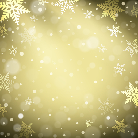 Christmas snowflakes on colorful background. Vector illustration