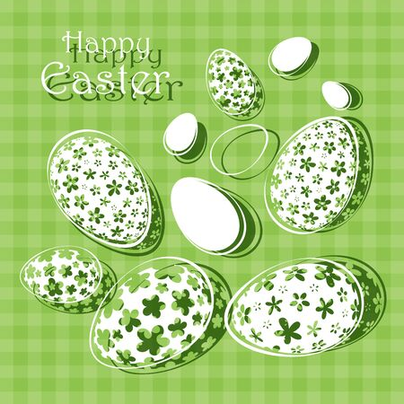 Happy Easter abstract postcard background Vector illustration.
