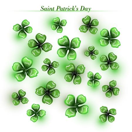 St Patrick's day greeting card background vector illustration. Illustration