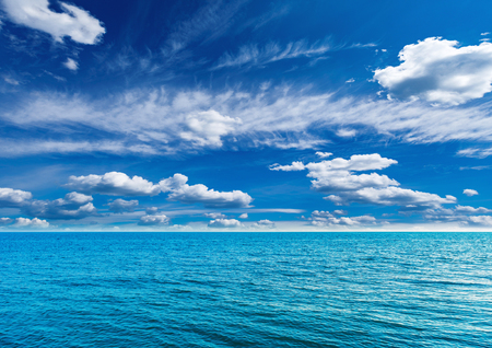 Sea view at sunny hot day time. Stockfoto