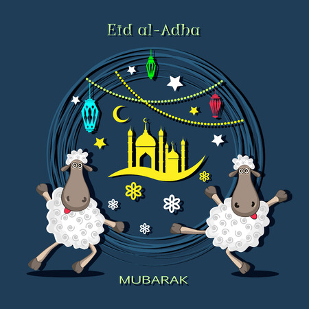 Eid al-Adha, Kurban Bajram muslim festival. Vector illustrator. Imagens - 107067186