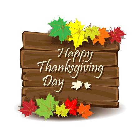 Happy Thanksgiving day colorful background. Vector illustration