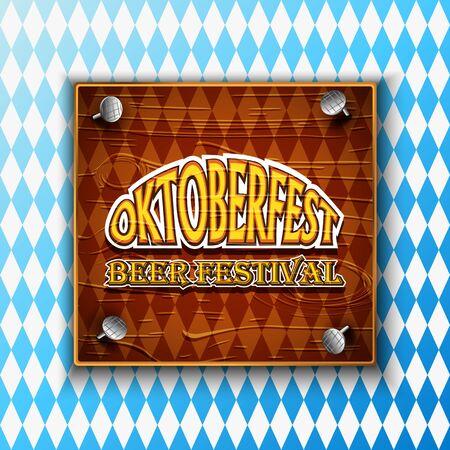 Vintage styled emblem for Oktoberfest festival. Vector illustration. Stock Illustratie