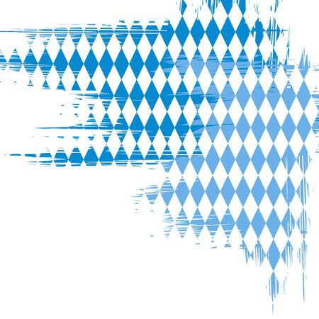 Bavaria flag colors abstract background. Vector illustration. Banco de Imagens