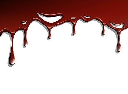 Dark chocolate on white background. Vector illustration. Illustration